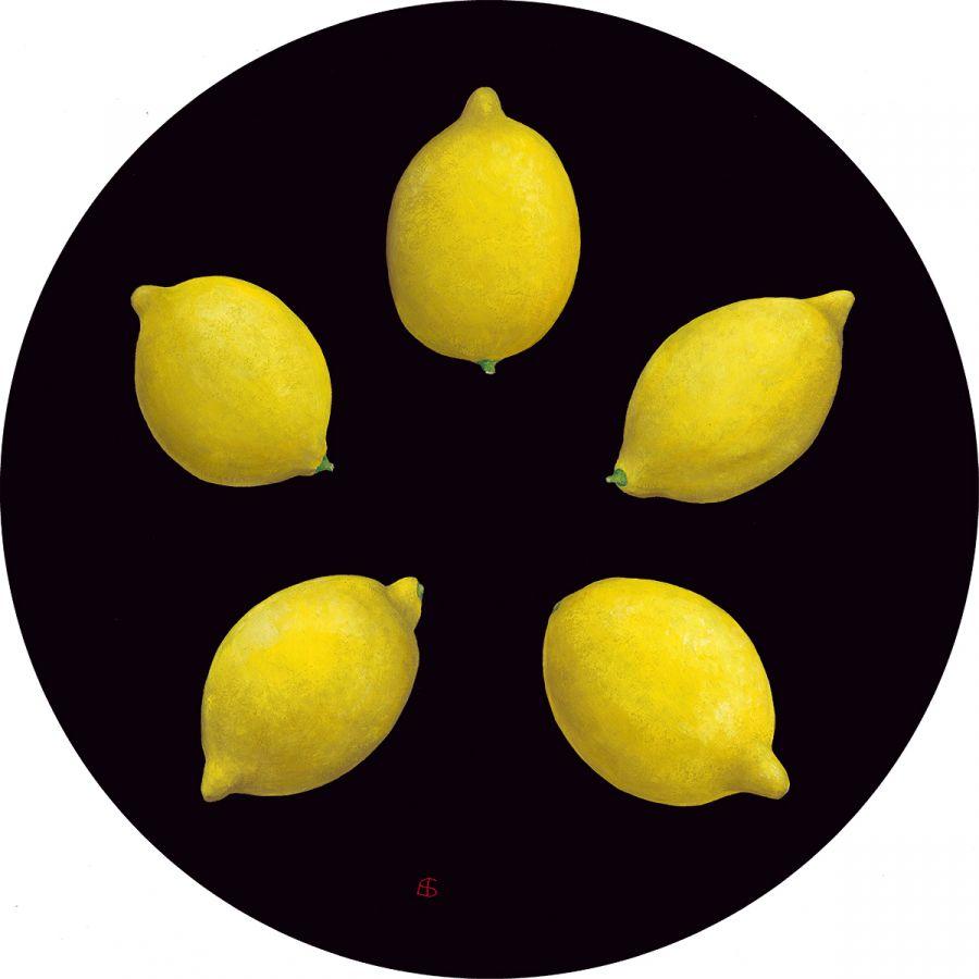 Five Lemons Glass Trivet