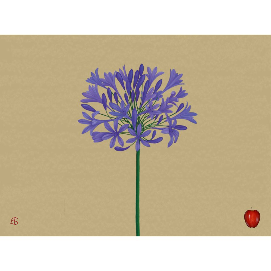 Agapanthus on Gold Table Mats