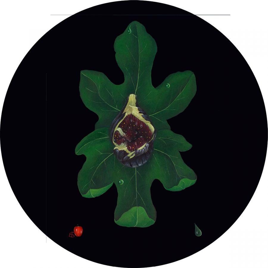 Fig on Black Trivet