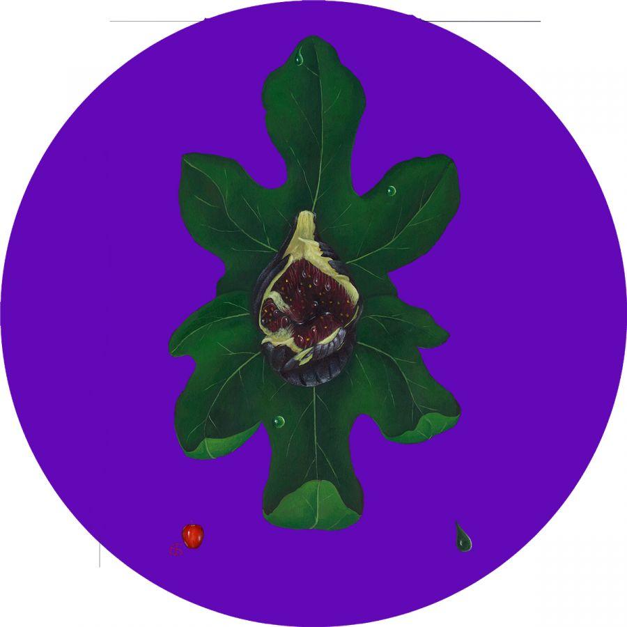 Fig' on Purple Trivet