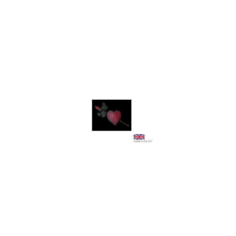 Heart & Rose Black Apron