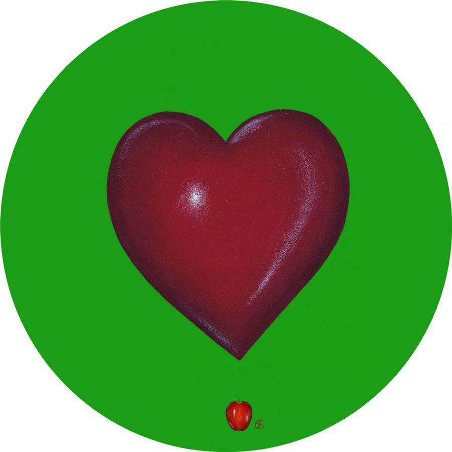 Heart' on Green