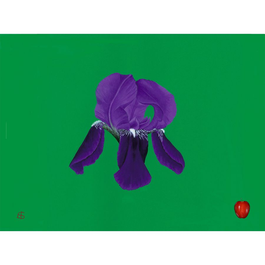 Iris on Green Table Mats