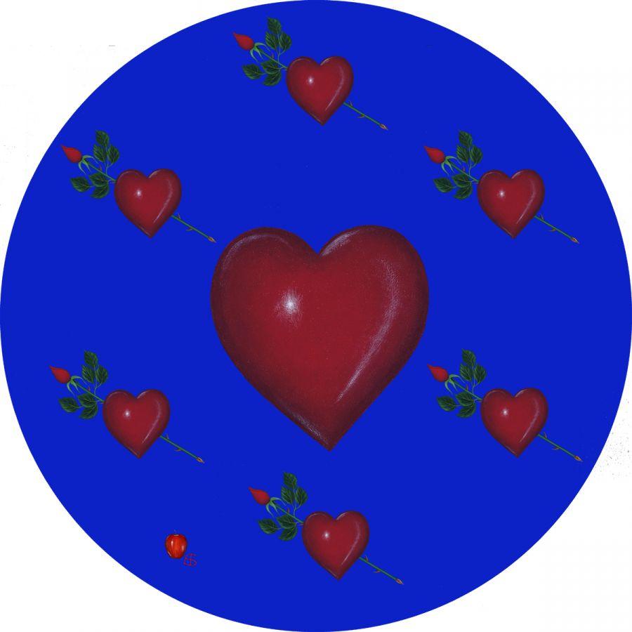 LOVE' on Blue
