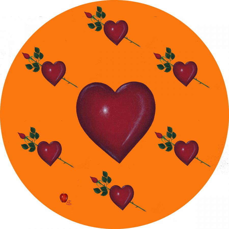 LOVE' on Orange