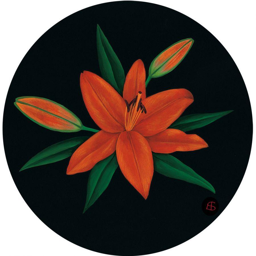 Orange Lily' Trivet