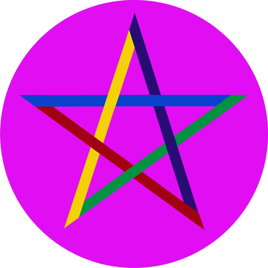 Pentagram on Pink