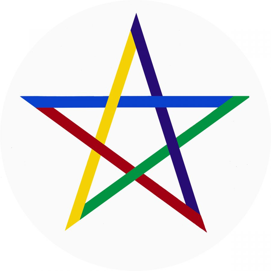 Pentagram on white
