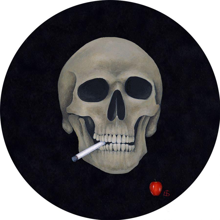 Skull on Round Table Mats