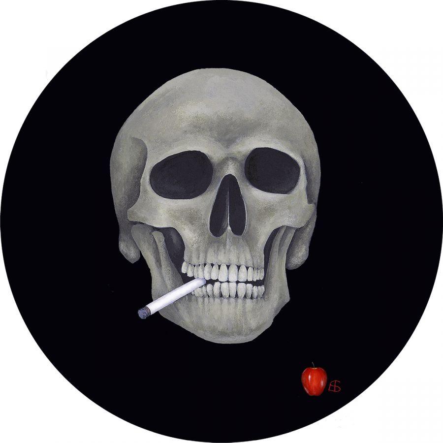 Skull' glass trivet