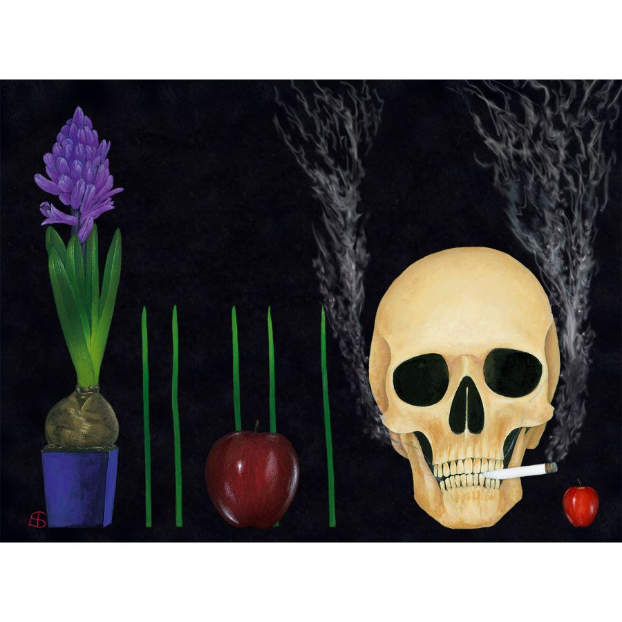 Spring Again on Black Table Mats