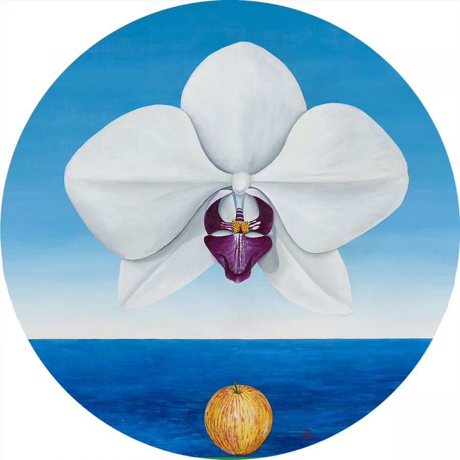 The Great Orchid Glass Trivet